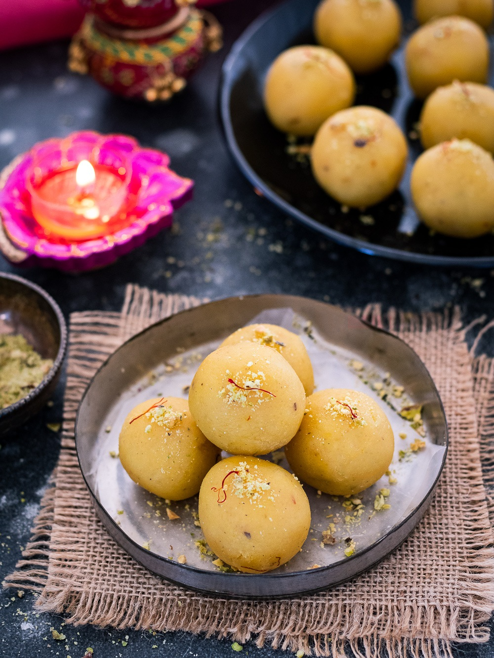 Moong dal Ladoos in a plate