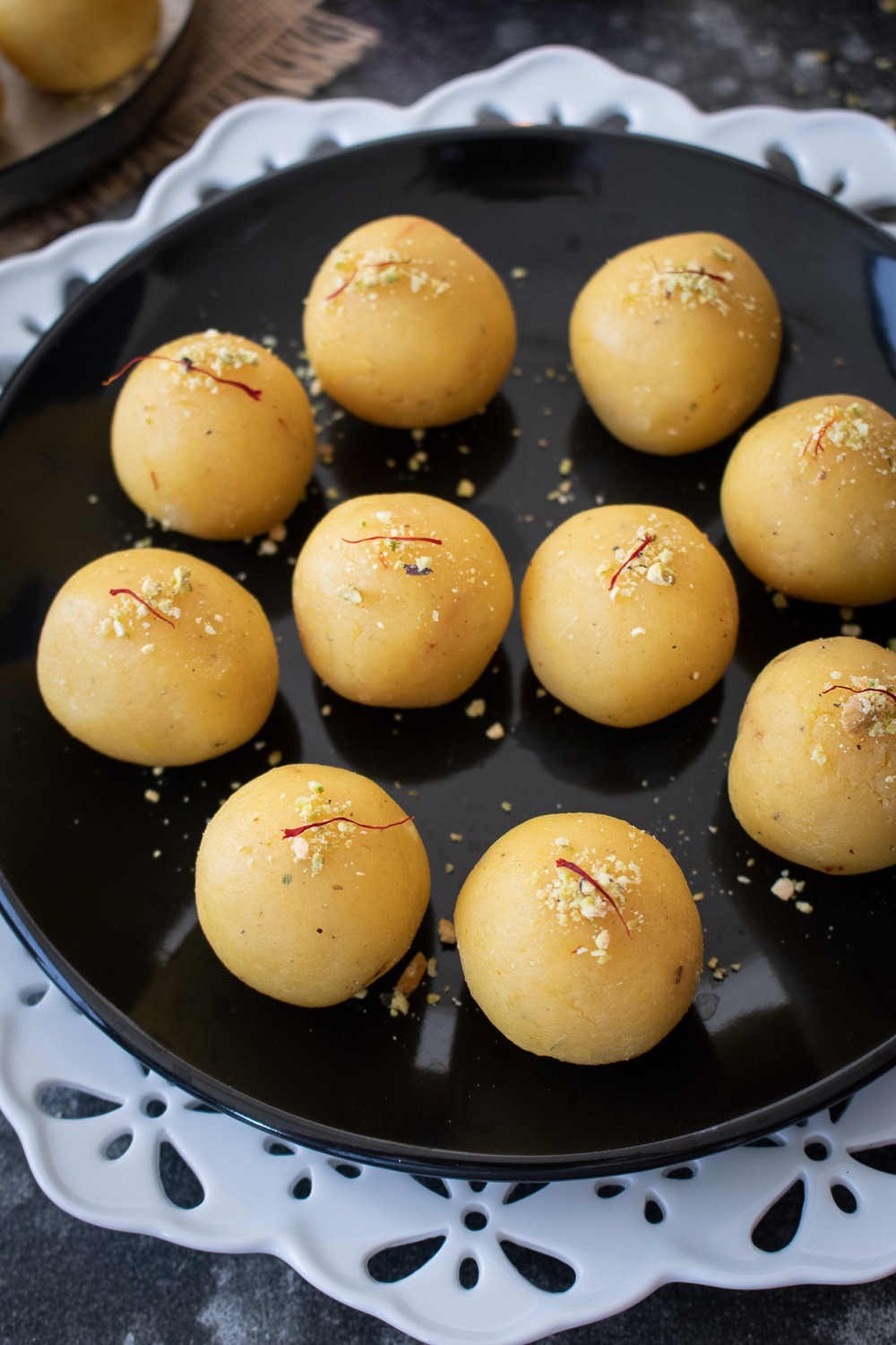 Garnished Moong Dal ladoo