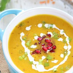 Roasted Butternut Squash and Lentil Soup