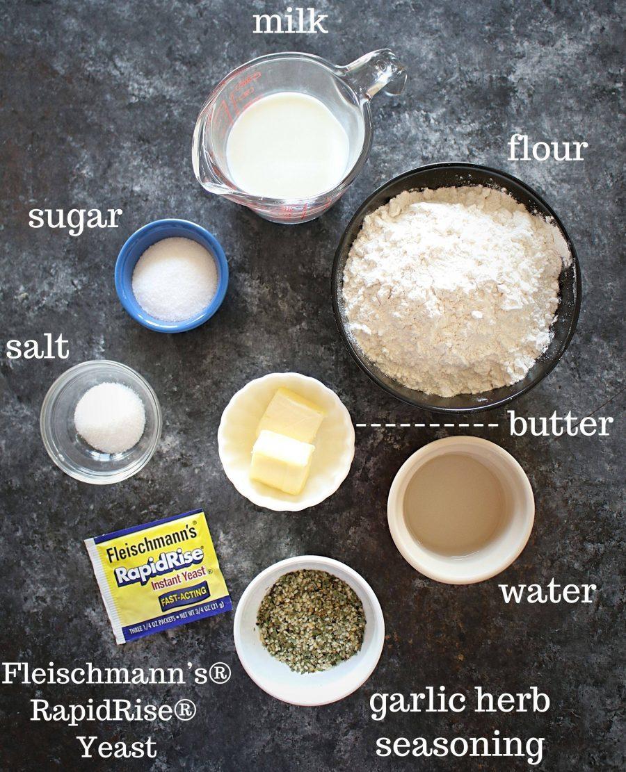 Ingredients for skillet rolls