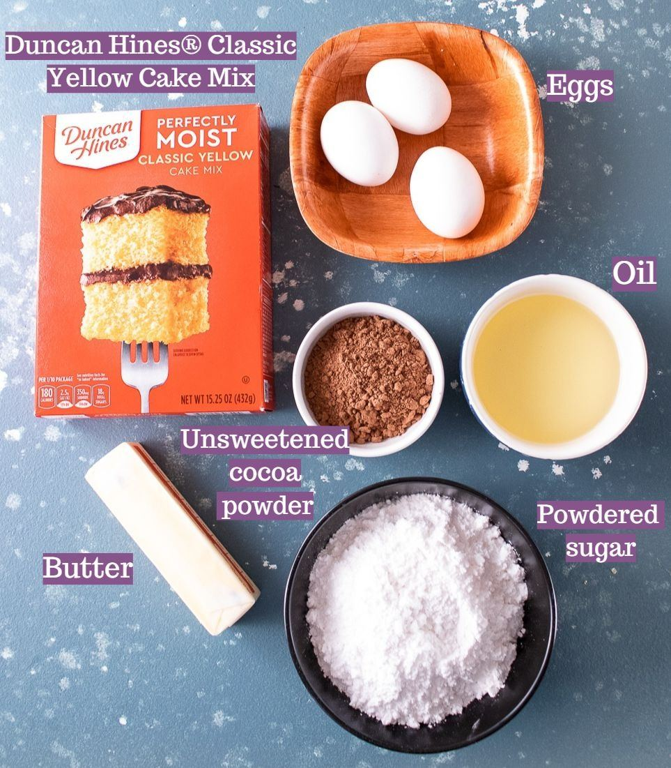 Ingredients required to make Yule Log Cake with Chocolate Ganache!