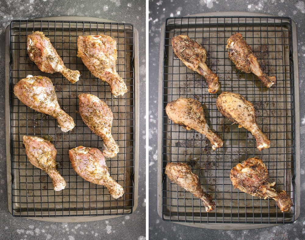 Baking Chicken legs in oven