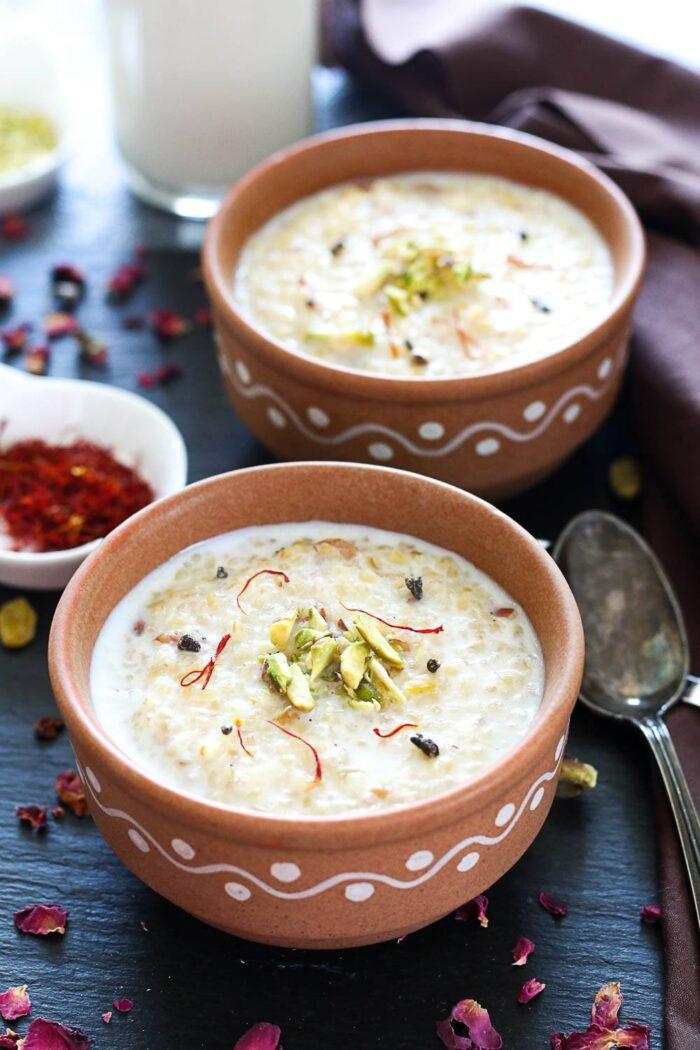 Daliya kheer in Instant Pot