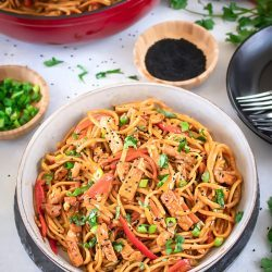 Chili Garlic Noodles With Tofu
