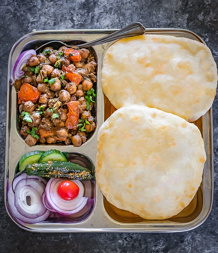 Serve chole with bhaturas