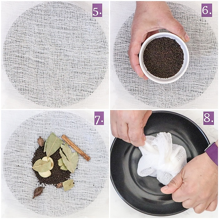 Making of potli - Spice bundle