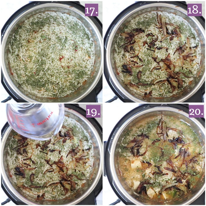 Vegetarian paneer biryani