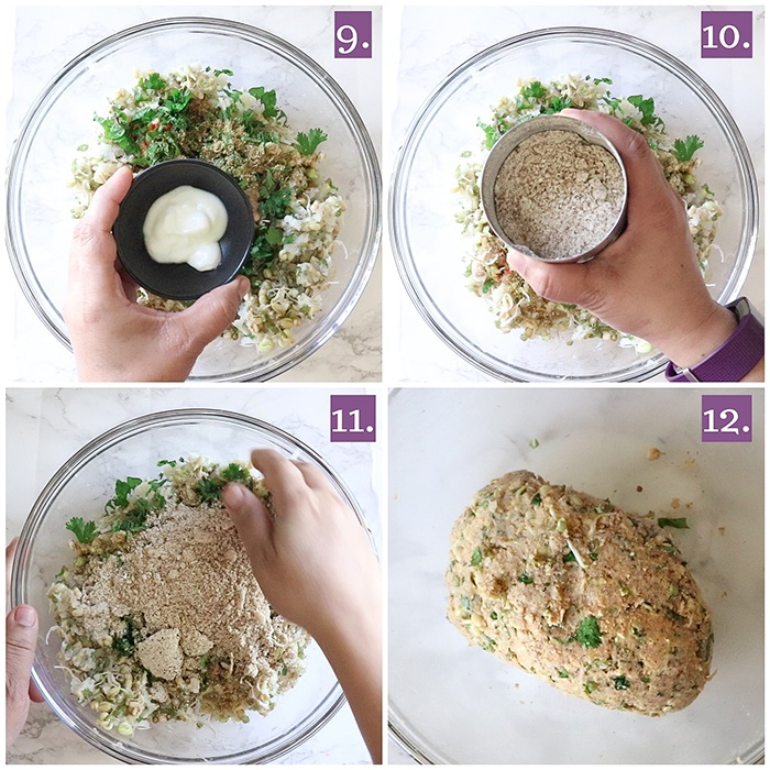 Moong dal sprout dough
