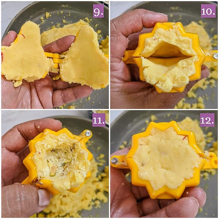 How to shape Khavyache modak