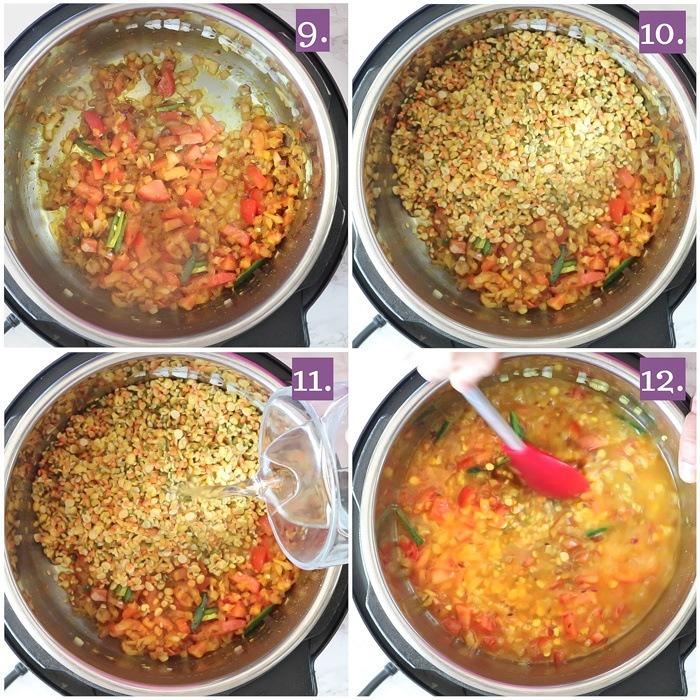 Panchratna dal in pressure cooker
