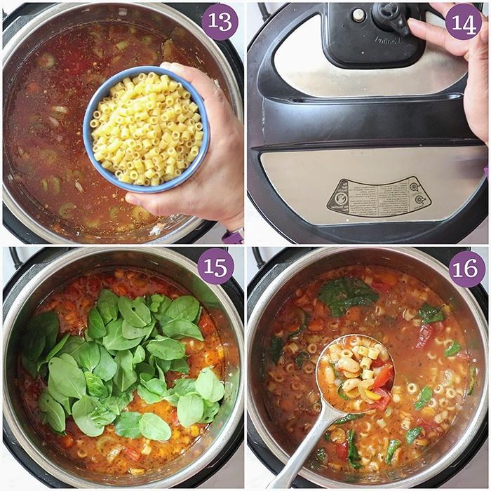 Pressure cooked Pasta E Fagioli Soup
