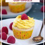 Pinterest pin for Eggless vanilla cupcakes