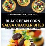 Black bean corn salsa cracker bites pinterest pin