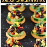 Black bean corn salsa cracker bites pinterest short pin