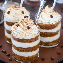 Eggless Tiramisu Trifle Cups