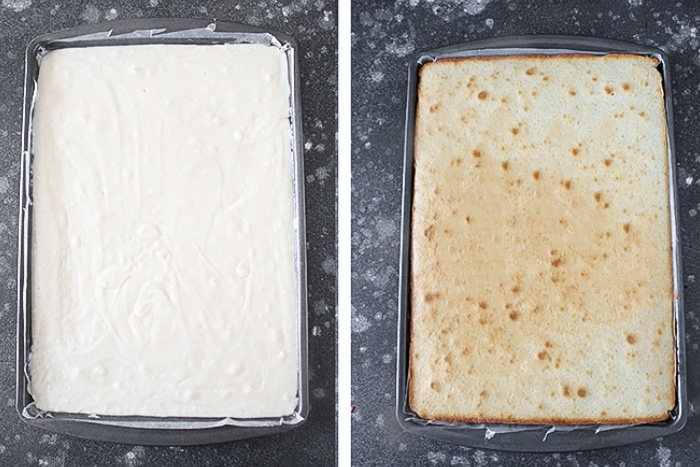 Bake the cake for tiramisu