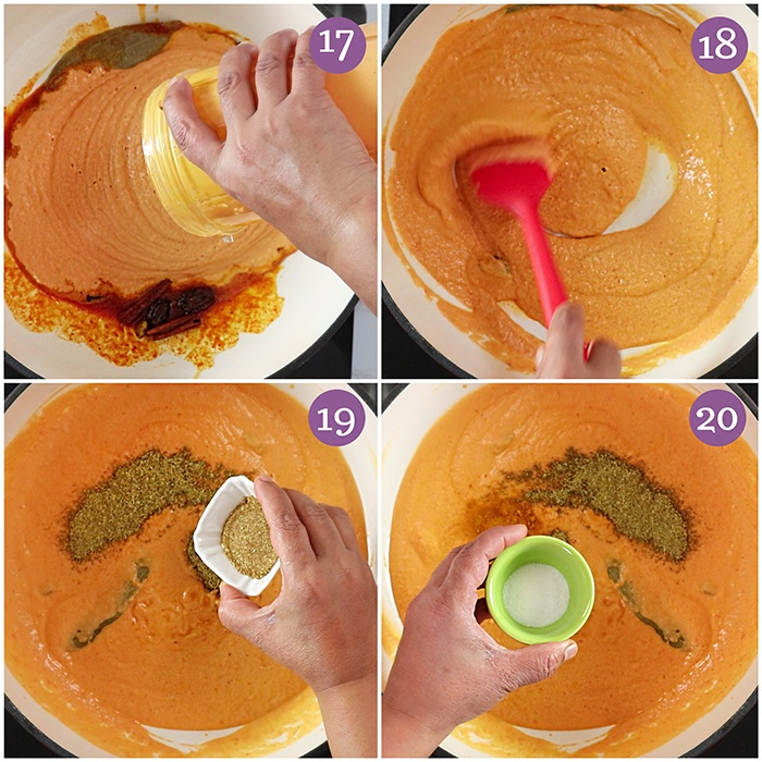 Cook the Paneer Butter Masala gravy