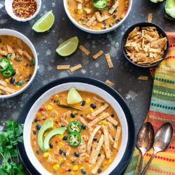 Instant Pot Creamy Chicken Tortilla Soup