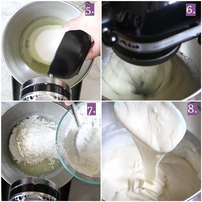 Mixing of cake batter