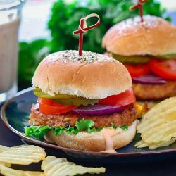 Sun-Dried Tomato Chickpea Burger