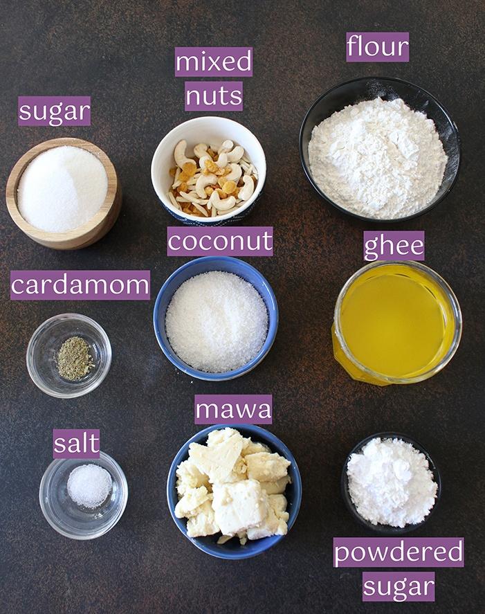 Gujiya ingredients