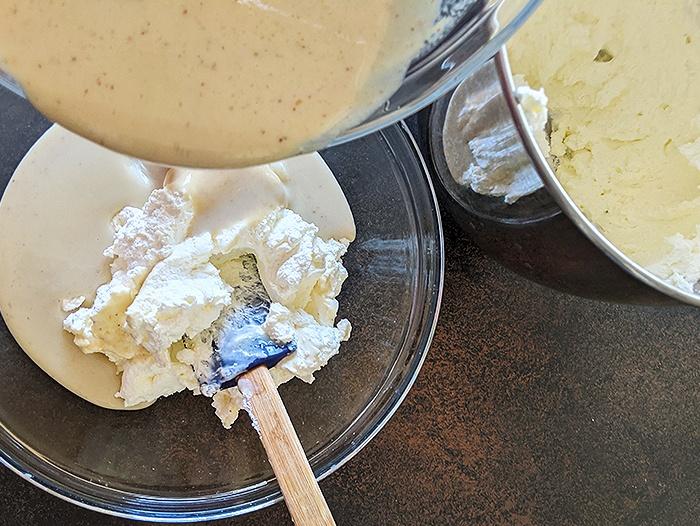 Step by step Thandai gulkand ice cream