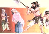 Parashurama Avatar - Parshuram killing his mother